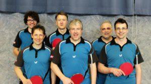 Oben von links: Luca Jehn, Martin Sauer und Bernd Metzler Unten von links : Torsten Leitschuh, Arno Schleicher und Thomas Bott
